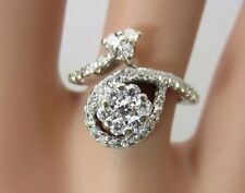 18K White Gold Diamond Fancy Arrow Ring 0.50 CTW