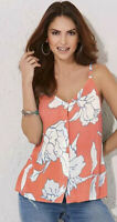 kaleidoscope Coral Cami Top Floral Summer Vest New Size 12 Faulty