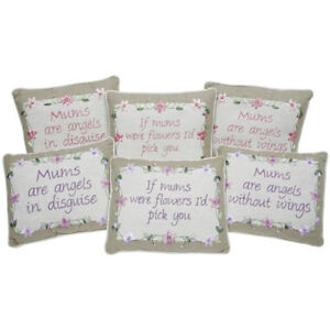 CHOICE *Mum* Embroidered Sentiment Country Cushion Birthday Gift Present