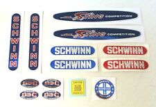 Officially licensed 1980-82 Schwinn Sting Competition BMX bicycle decals set