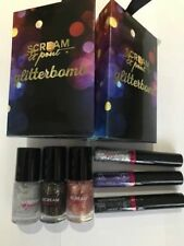 FAKE BAKE SCREAM AND POUT GLITTER BOMB EYES AND NAILS 2 SETS 6 ITEMS