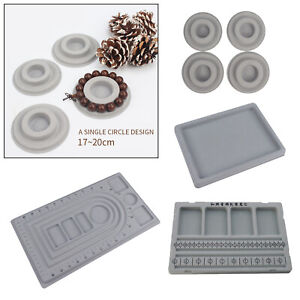 Flocked Bracelet Design Bead Beading Board Jewelry Making Tray Mats Tools