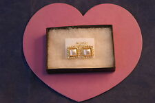 Beautiful Gold Color Earring With Pearl And Diamantino 1.5 Cm.Long Without  Box