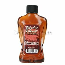 Body Heat Warming Massage Oil Lotion Lube Lubricant Edible Cinnamon Flavored 8oz
