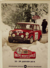 17th MONTE CARLO RALLYE HISTORIQUE programme officiel 2014 96 pages