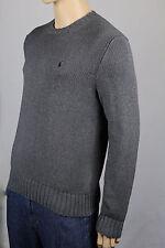 Polo Ralph Lauren Small S Grey Crewneck Sweater Burgundy Pony NWT