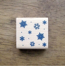 Decorative Stamps Rubber Stamp_Snow flake background