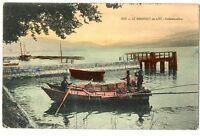 CPA 73 Savoie Lac du Bourget Embarcadère animé barque