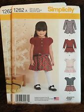 Simplicity Sewing Pattern 1262 Toddler Dressy Dress Sz 1/2 to 4 NEW