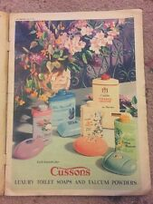 1950s Retro Cussons Luxury Toilet Soaps Talcum Print AD vintage advertising
