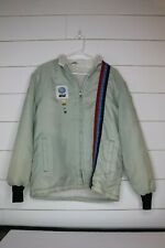 Vintage lined jacket AT&T phone company advertising clothing size S with pinback