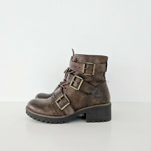 B.O.C Brown Buckle Boots Women's Size 7