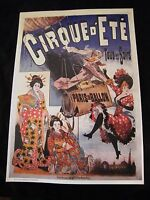 Reproduction affiche Ballon Cirque d'été Paris en Ballon