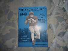 1949 VILLANOVA FOOTBALL MEDIA GUIDE Yearbook 8-1 BEAT PENN ST, BC, TEXAS A&M! AD