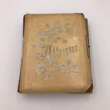 Vintage Antique Victorian Celluloid Photo Album - Almost Full!!
