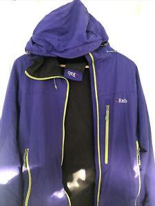 Mens RAB Vapour rise Jacket - Medium  purple/green
