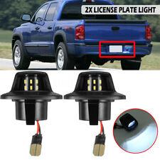 2x White 6000k LED Number License Plate light For Mitsubishi Raider Dodge Dakota