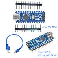 1/2/5/10PCS 5V 16MHz Mini USB CH340G Nano V3.0 ATmega328P-AU Driver For Arduino