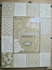 ANTIQUITY Premium CARDSTOCK 60 pack textured 8.5x11 Acid free 20 designs 3 of ea