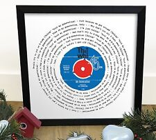 More details for the who my generation | vinyl single 12 inch lp size framed retro mod gift