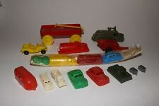 Lot of 1950's Plastic Toy Cars and Trucks, Original