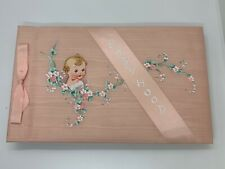 Vintage 1937 Pink Satin Baby Book - New Reduced Price!