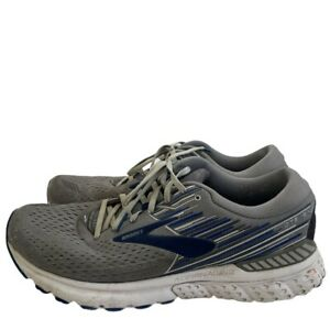 Brooks Mens Adrenaline GTS 19 Grey/Blue Running Shoes Size 13 Med 1102941D058