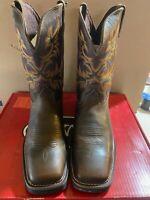 Justin Work Boots Waterproof EH Non-Steel Wellington Men's Size 10 Square Toe