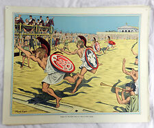 Vintage Schools Poster - Finish of the Foot Race at the Olympic Games -  c1920s