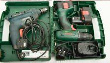 B & D KD562 2-speed Hammer Drill 450W + Bosh PSR 14,4 Cordless Drill & 2 Battery