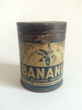 Ancienne boite en métal fer Banania