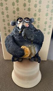Fantastic Todd J Warner Pottery Honey Bear Bell