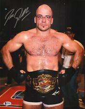Bas Rutten Signed 11x14 Photo BAS Beckett COA UFC 20 1999 Belt Picture Autograph