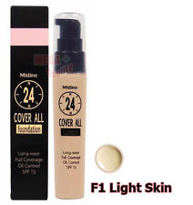 Mistine 24 Cover All Foundation Full Coverage Oil Control SPF 15 # Light Skin