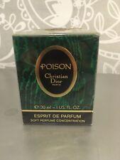 RARE Christian Dior Poison Esprit de Parfum 1oz/ 30 ml sealed begg.90s
