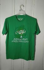 LUCKY CHARMS TEE MENS LARGE GREEN SHORT SLEEVE GRAPHIC