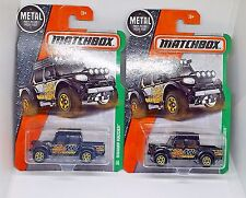 2016 Matchbox Swamp Raider - No. 112 - Black - Set of 2