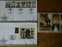 2008 UK CATHEDRALS 2 X FDC PLUS FULL SET PHQ 311 STAMP CARDS UNUSED