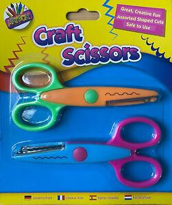 2 X Children Safety Scissors Kids Craft Art Creative Safe Child School Office TM