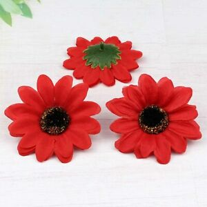 """Wholesale Artificial Sunflower Silk Flower Heads 3"""" Fake Floral for Home Decor"""