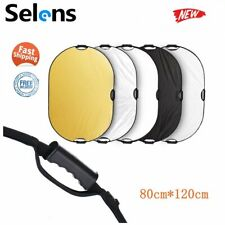 Selens 5 in 1 Collapsible Oval Light Reflector Diffuser for Photography 80*120cm