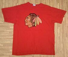 Chicago Blackhawks NHL Hockey Shirt ~ Men's Large L ~ Red Gildan