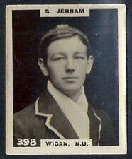 PINNACE FOOTBALL-BLACK OVAL BACK-#0398- RUGBY - WIGAN NU - S. JERRAM