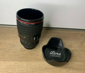 Novelty Camera Lens Plastic Mug Cup- With Lid- Travel Cup- Photography