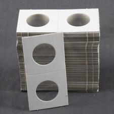 100 Cardboard 1.5x1.5 Coin Holder Mylar Flips for Nickels 1 1/2 x 1 1/2