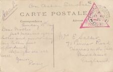 MILITARY : 1915  FIELD  POST OFFICE / C.8.  double ring  cancel on PPC