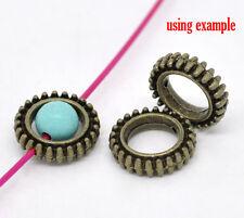 20 pcs metal circle bead frame, connecteur