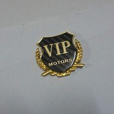 1PC VIP Golden MOTORS Metal Carbon Fiber Sticker Badge Emblem 3D Limited Car suv