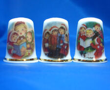 Birchcroft Thimbles -- Set of Three -- Christmas Carols
