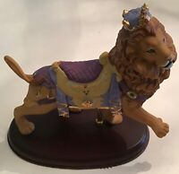 """Large CAROUSEL ROYAL LION with  CROWN  8 1/4"""" X 8 1/2"""" FIGURINE w/Stand"""